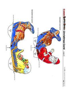 xmas card 4 x knutselen 4609. Knutselen voor kinderen. De mooiste Knutselwerkjes voor op school en in het onderwijs. Religion Catolica, Xmas Cards, All Things Christmas, School, Animals, Noel, Christmas E Cards, Christmas Cards, Animales