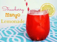 Strawberry Mango Lemonade Recipe. A perfectly refreshing drink!