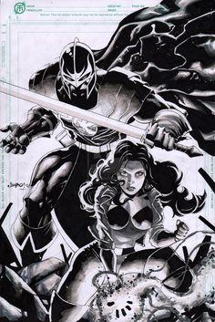 Black Knight and Sersi by Jimbo02Salgado.deviantart.com on @deviantART