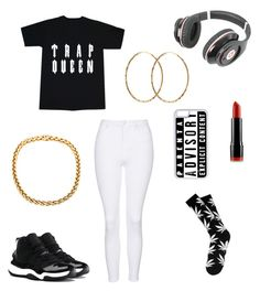 """""""Untitled #185"""" by kawaii2cute ❤ liked on Polyvore featuring Beats by Dr. Dre, Topshop, NYX, NIKE, Pernille Corydon and CellPowerCases"""