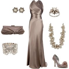 Terrific Taupes/Wow, I might have a place to wear this... hahah --- Still gorgeous!