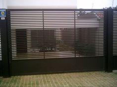 SERRALHEIRA ESTRUTURAL: Modelos de portões aberto House Gate Design, Blinds, Curtains, Doors, Steel, Home Decor, Automatic Driveway Gates, Metal Gates, One Story Homes