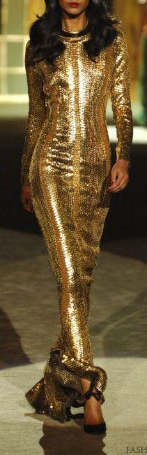 Roberto Cavalli  Gold Dress #2dayslook #susan257892  #GoldDress  www.2dayslook.com