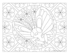 Free Printable Pokemon Coloring Page Butterfree Visit Our For More Fun All Ages Adults And Children