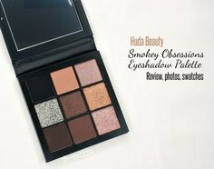 Review, photos, swatches of new Huda Beauty Obessions Palette in Smokey for holiday 2017