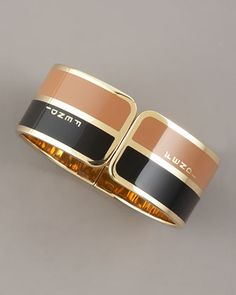 Two-Tone Bangle by Fendi at Bergdorf Goodman. love!!