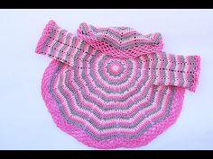 Crochet Fast And Easy Baby Coat - Crochet Ideas Crochet Jacket Pattern, Gilet Crochet, Crochet Coat, Crochet Cardigan Pattern, Crochet Patterns, Baby Coat, Crochet Circles, Crochet Baby Clothes, Crochet Videos