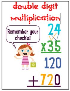 1000+ images about Mul... Double Digit Multiplication Strategies