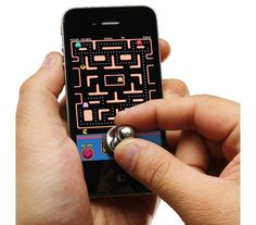 Stick-on Joystick for Smartphones (Wireless, no Bluetooth or drivers needed).  Maybe a good present for my nephew