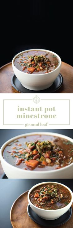 Instant Pot Minestrone Vegan Bean Recipes, Vegan Soups, Soup Recipes, Healthy Recipes, Vegan Food, Meal Deal, Plant Based Recipes, Soups And Stews, Entrees