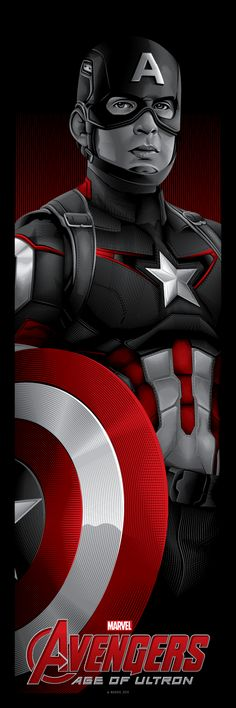 Avengers: Age of Ultron - Captain America movie poster - Tracie Ching