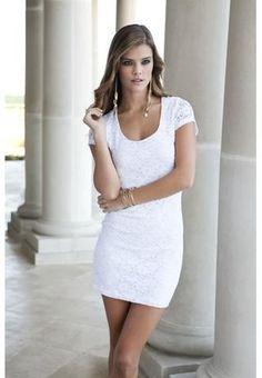 LIPSTICK Crochet lace cap sleeve dress - bodyc.com