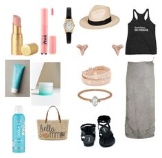 """""""Summer on the Boardwalk 2017🌞"""" by englishrosie on Polyvore featuring Timex, Breckelle's, Megan Thorne, Too Faced Cosmetics, Roxy, Straw Studios, COOLA Suncare, Humble Chic and Tory Burch"""