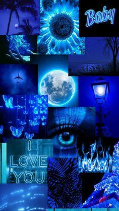 Эстетика.Колаж.Синий