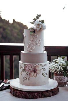 45 Simple, Elegant, Chic Wedding Cakes ❤ simple elegant chic wedding cakes tender watercolor cake debbiecakeartistry #weddingforward #wedding #bride