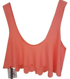 Crop Top Coral Neon. Free shipping and guaranteed authenticity on Crop Top Coral Neon at Tradesy. Hot Water Crop Tank Top Size M  **New with tags***...