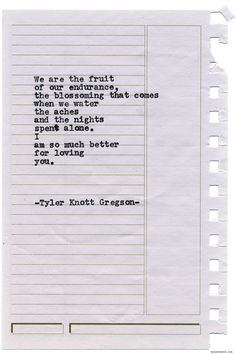 Typewriter Series #1467 by Tyler Knott GregsonChasers of the Light & All The Words Are Yours are Out Now!