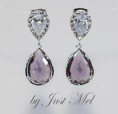 Wedding Earrings Bridesmaid Earrings Bridal Jewelry by justmel, $39.99