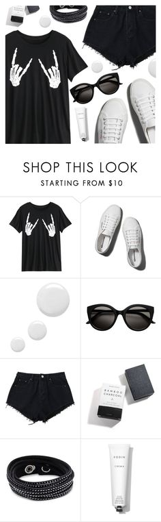 """Untitled #3244"" by deeyanago ❤ liked on Polyvore featuring Abercrombie & Fitch, Topshop, Herbivore, Swarovski and Rodin"