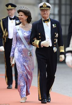 Sweden's King Carl XVI Gustaf and Sweden's Queen Silvia.