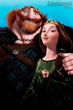 """Brave"" parents: in some ways these two remind me of my own parents! Anybody else see that? :)"