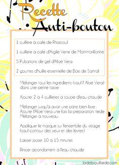 masque argile anti bouton recette #masque #argile #rhassoul #maison #recette…