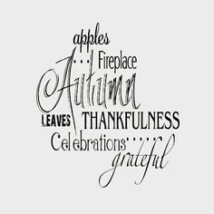 Apples...Fireplace Autumn Leaves Thankfulness Celebrations...Grateful