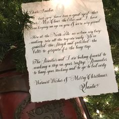 Handwritten letter envelope from santa pinterest handwritten letter from santa spiritdancerdesigns Gallery