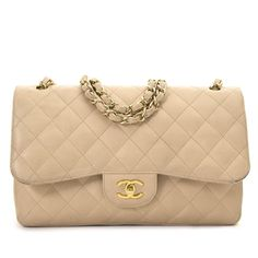 7ce3b3f1e5de Chanel Jumbo Beige Double Classic Flap Bag Caviar GHW now for sale at  Labellov vintage webshop