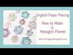 Emma Jones Vintage Sewing Box - YouTube Quilt Size Charts, Quilt Sizes, Hexagon Pattern, Hexagon Quilt, Quilting Projects, Sewing Projects, Quilting For Beginners, Beginner Quilting, Vintage Sewing Box