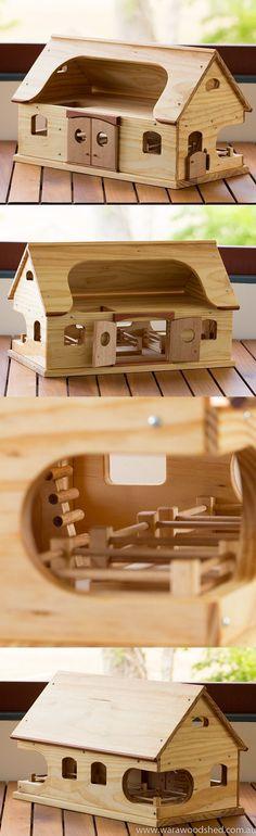 Wooden Toy Farmhouse
