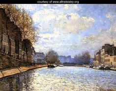 Alfred Sisley, View of the Canal Saint-Martin, Paris, 1870