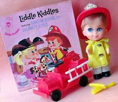 Bunson Burnie Liddle Kiddle 1966 They each came with a little paper story book