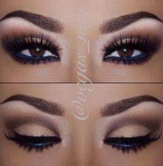 Dark Blue liner always enhances brown eyes ❤ ℒℴvℯ this makeup !!!