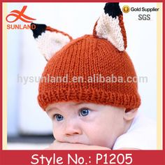 p1205 modieuze schattige met de hand gehaakt baby dier vos hoed groothandel-winter hoeden-product-ID:60377181738-dutch.alibaba.com