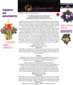 TIEMPO DE ADVIENTO. ORACION TERCERA SEMANA DE ADVIENTO. DOMINGO 22 DE DICIEMBRE DEL 2013. PARTE 2. *♥ ♥LOURDES MARIA BARRETO♥ ♥*