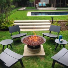 Backyard patio inspiration with Loll Designs outdoor furniture. Spotted on Instagram.