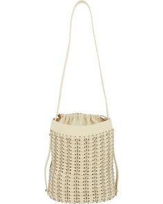 Paco Rabanne Leather & Chain Mail Bucket Bag