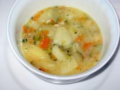 This recipe for Polish pickle soup or zupa ogorkowa is from the women of Gwizdaly village.