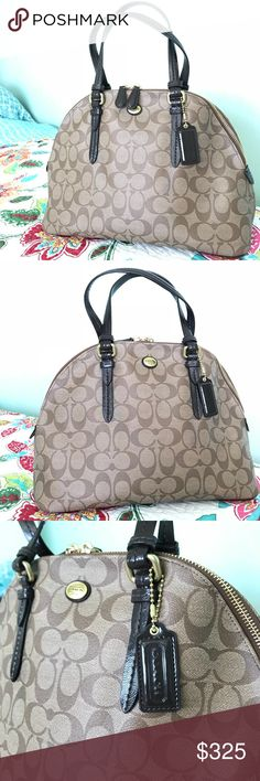 Coach Peyton Cora Doomed Satchel/Cross body Beautiful bag..I got it in trade recently. just looking for something different.OPEN TO TRADE! Coach Bags