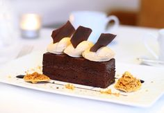 Cake at Indigo at One Aldwych  #cake #chocolate #food #dessert #London   http://www.squaremeal.co.uk/restaurant/indigo-at-one-aldwych