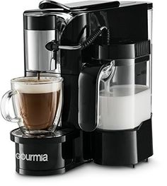 Gourmia 1 Touch Automatic Espresso Cappuccino Latte Maker Coffee Machine Brew Froth Milk and Mix Into Cup with the Push of One Button Nespresso Compatible -- Check this awesome product by going to the link at the image. (This is an affiliate link) Latte Machine, Coffee Maker Machine, Coffee Machines, Latte Maker, Cappuccino Maker, Espresso Maker, Dual Coffee Maker, Home Espresso Machine, Espresso Machine Reviews