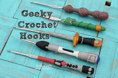 Doodle Craft...: Geeky Crochet Hooks! This is so happening :)