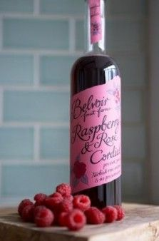 Fruit Cordials for Summer wedding spritzers and non-alcoholic beverages - and the bottles are pretty enough to display!
