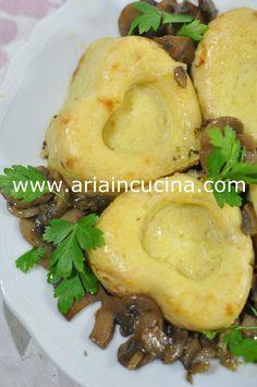 Sformatini di patate con funghi trifolati