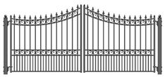 ALEKO The Moscow Steel Dual Swing Driveway Gate offers affordable prices. The quality Moscow Steel Dual Swing Driveway Gate is powder coated and galvanized for years of trouble free good looks and security. Driveway Fence, Driveway Landscaping, Fence Gate, Fences, Wrought Iron Gate Designs, Wrought Iron Gates, Dublin, Gate Openers, Gate Post