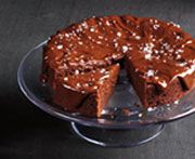 Filippo Berio®   Double-Chocolate Olive Oil Cake with Salted Chocolate Caramel Icing