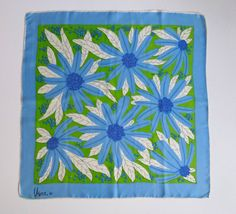 Vera scarf 1960s or 1970s Abstract floral design in by VeraTown on Etsy