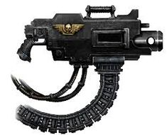 Image result for heavy bolter Anime Weapons, Sci Fi Weapons, Concept Weapons, Weapons Guns, Warhammer 40k, Grey Knights, Black Order, Sci Fi Characters, Space Marine