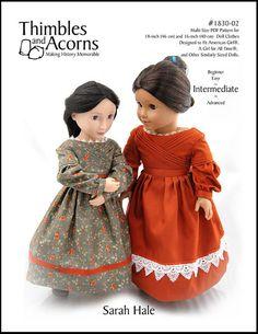Pixie Faire Thimbles and Acorns Sarah Hale par PixieFairePatterns